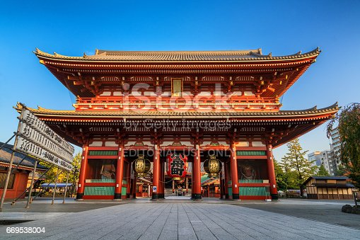 669538004 istock photo Sensoji-ji Temple in Asakusa, Tokyo, Japan 669538004