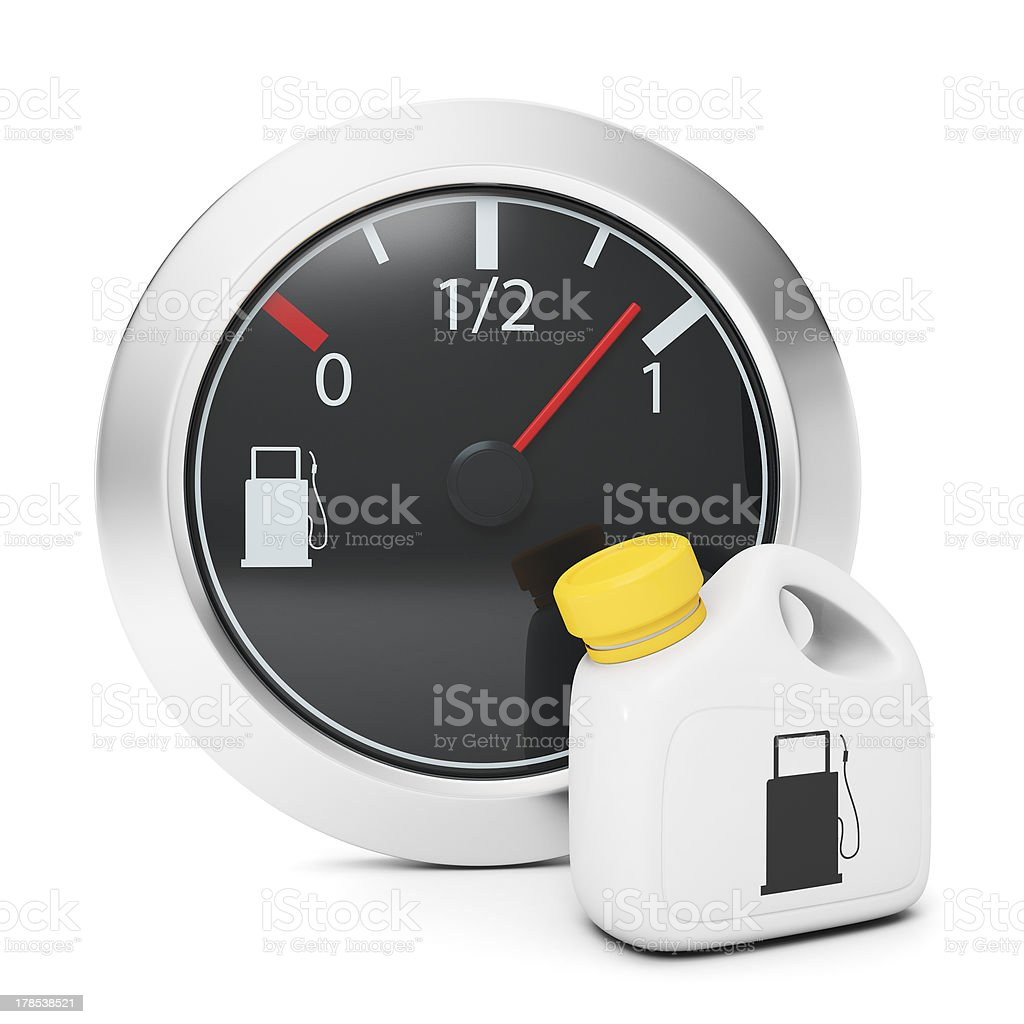 Sensor and fuel canister royalty-free stock photo