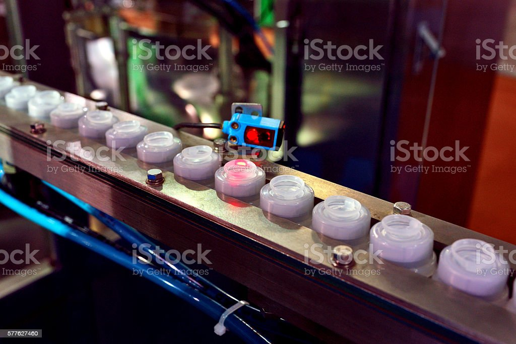 Sensor in the Production Line stock photo
