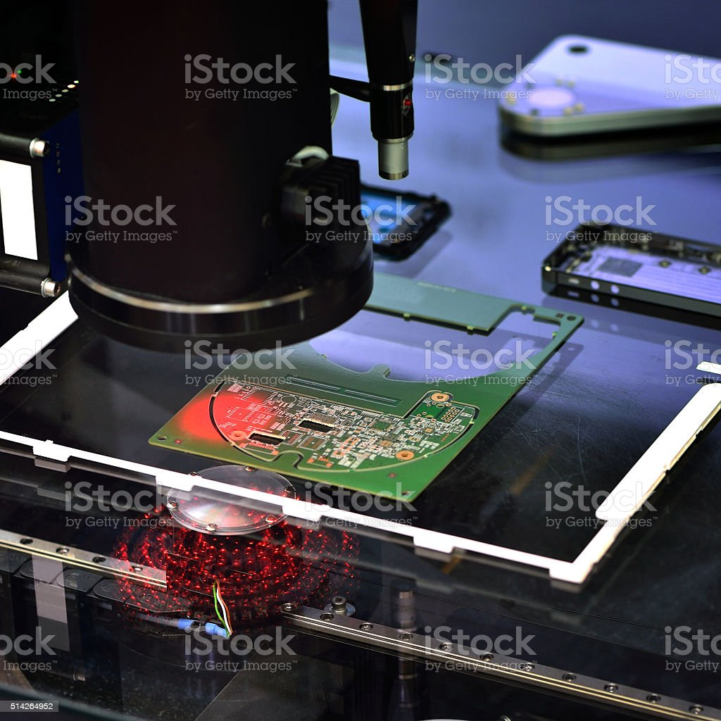 Sensor Scanning stock photo