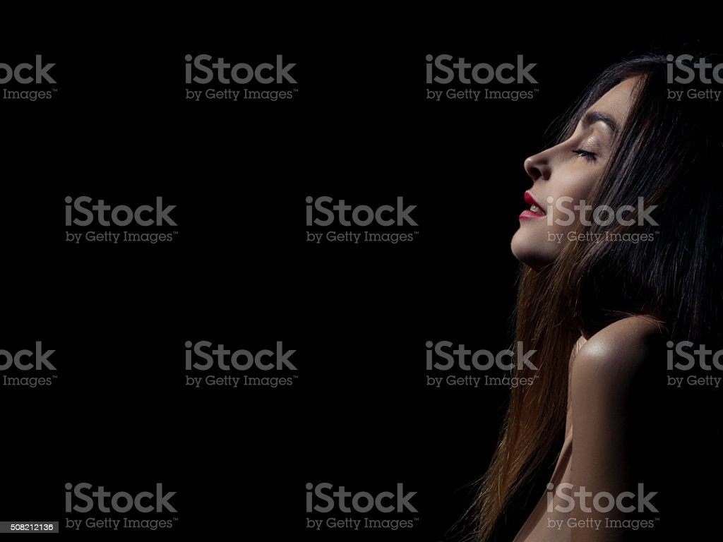 sensual aroused woman stock photo