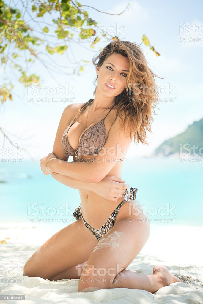 Sensual Beach Beauty stock photo