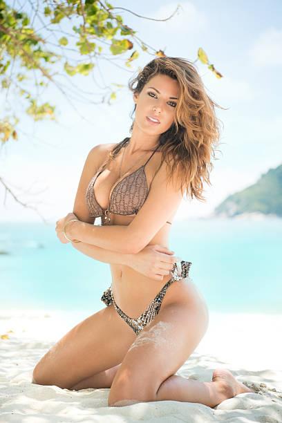 Sensual Beach Beauty stock photo