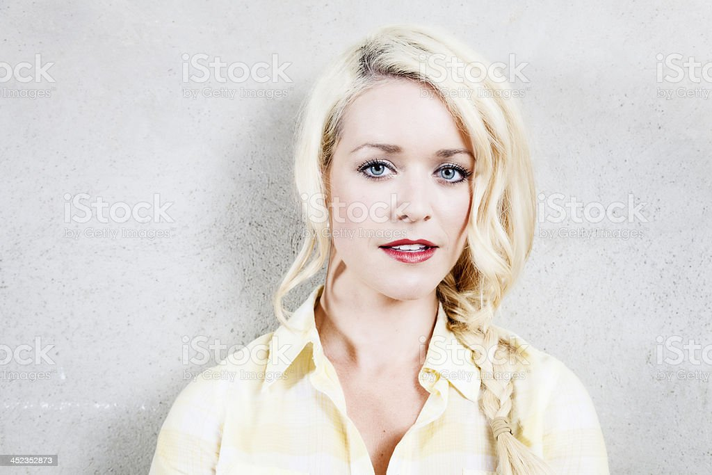 sensual blonde woman royalty-free stock photo