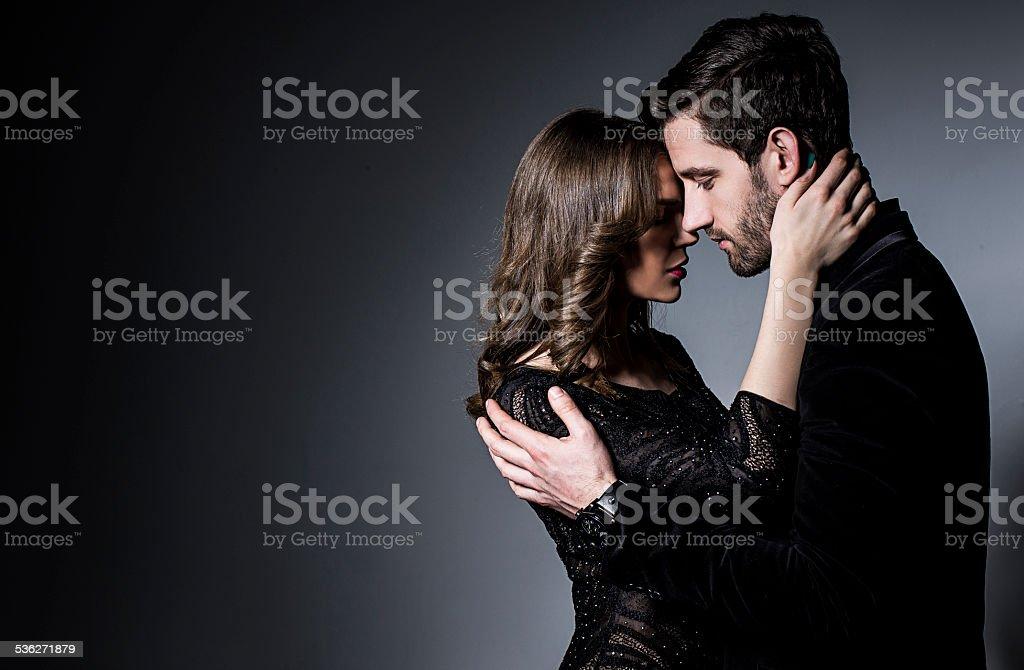 sensual couple stock photo