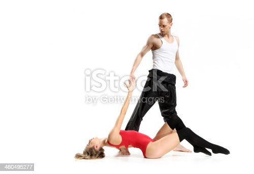istock Sensual dance of two people 460495277