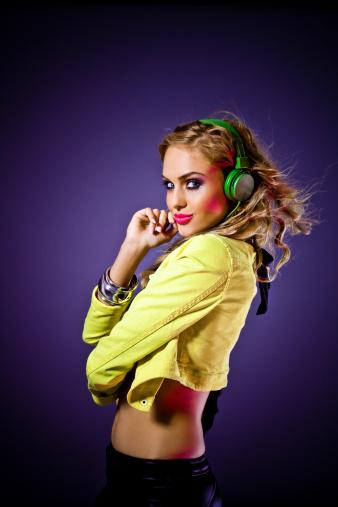 149411010 istock photo Sensual disco girl 155286713