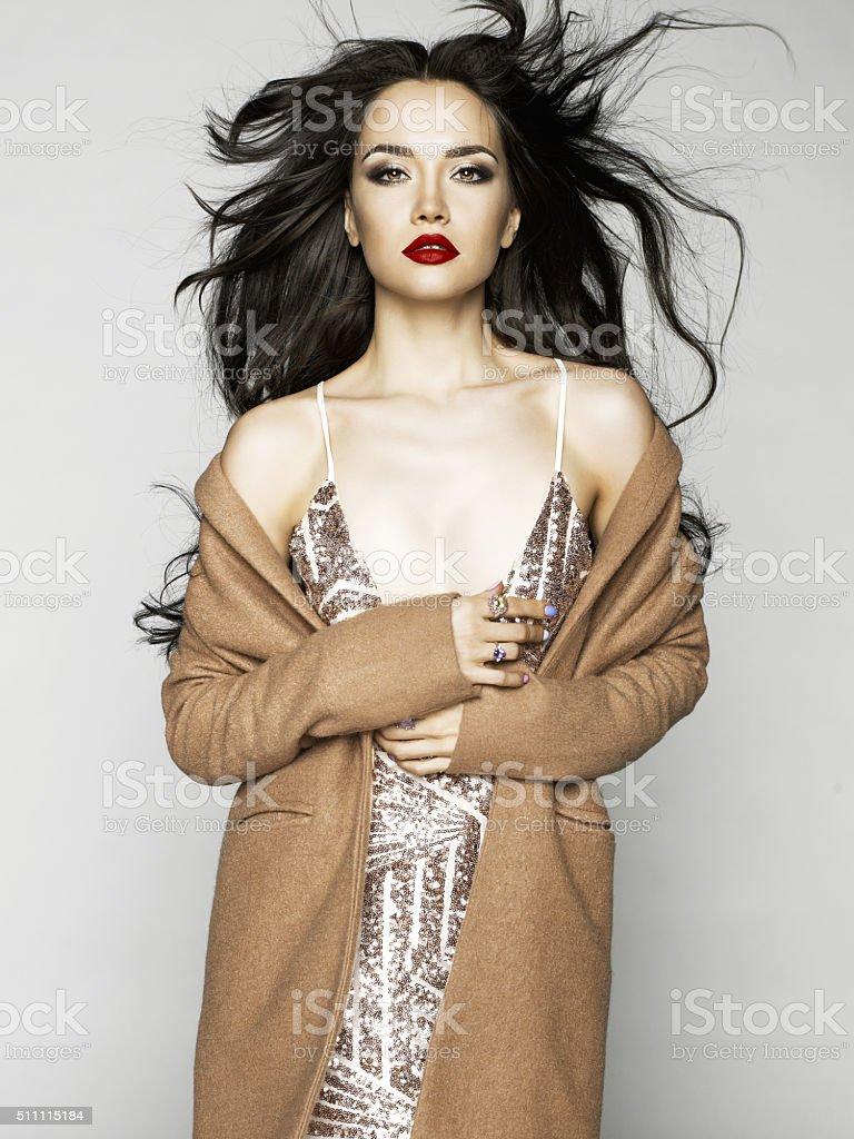 Sensual fashion lady stock photo
