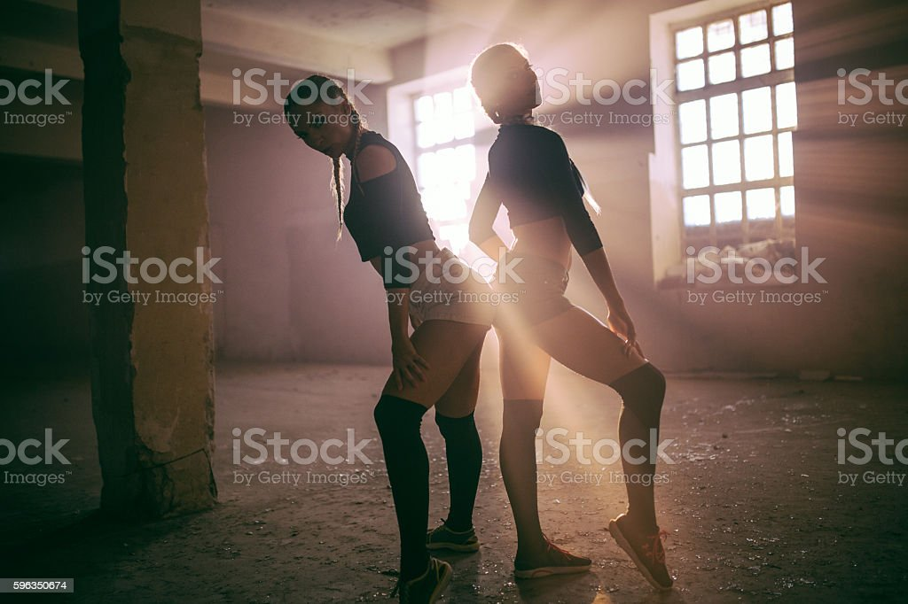 Sensual fitness women royalty-free stock photo