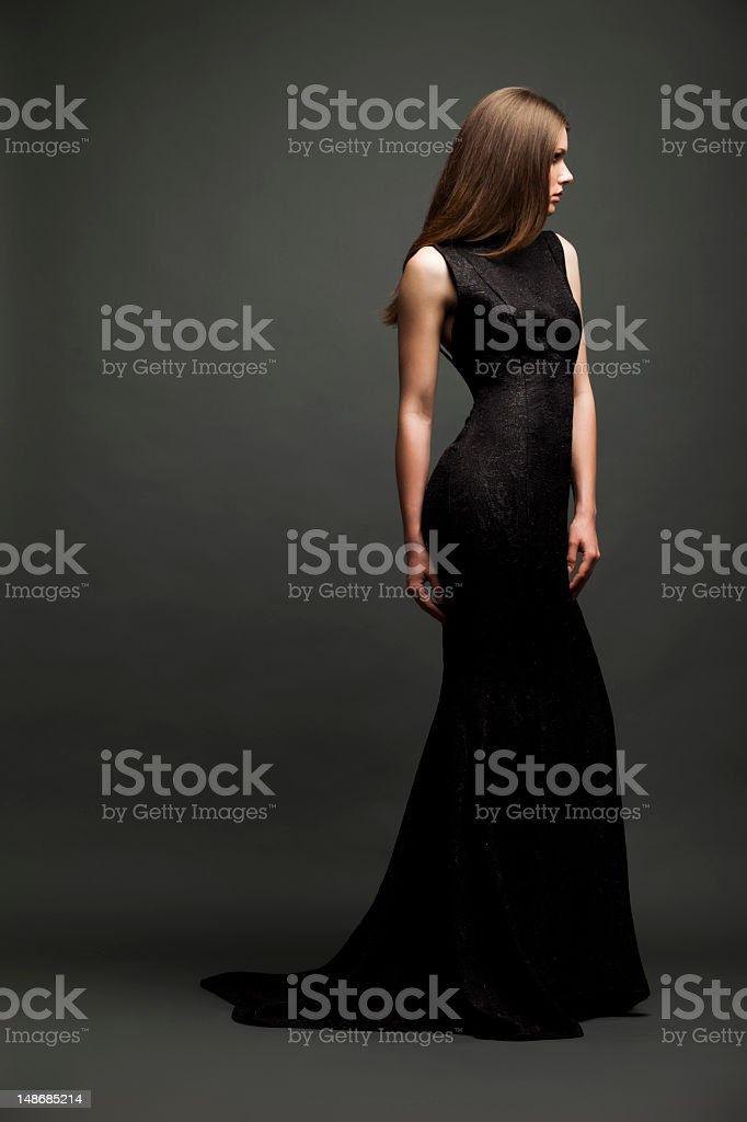 Sensual glamour girl stock photo