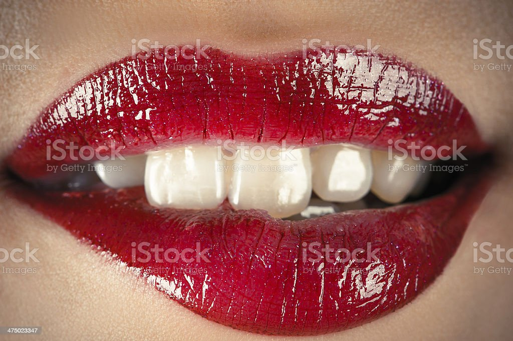 sensual lips stock photo