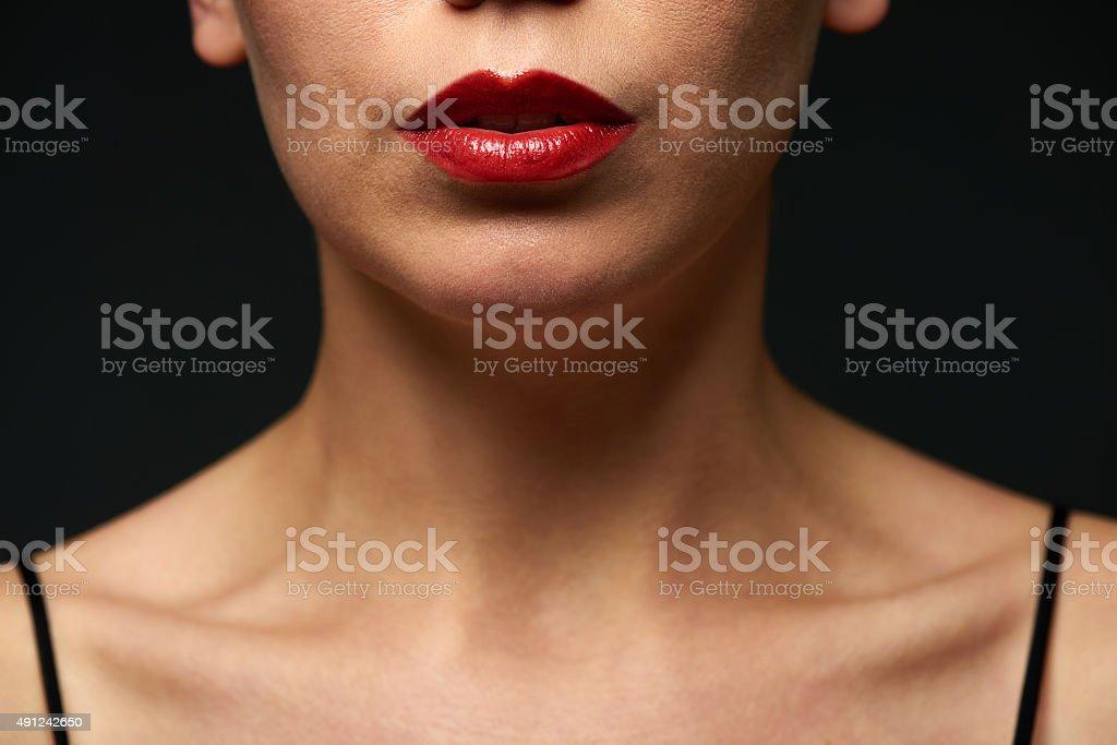 Sensual lips stock photo