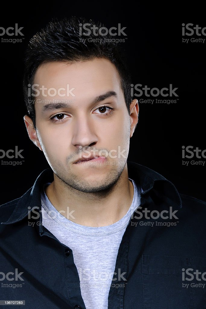 sensual man royalty-free stock photo