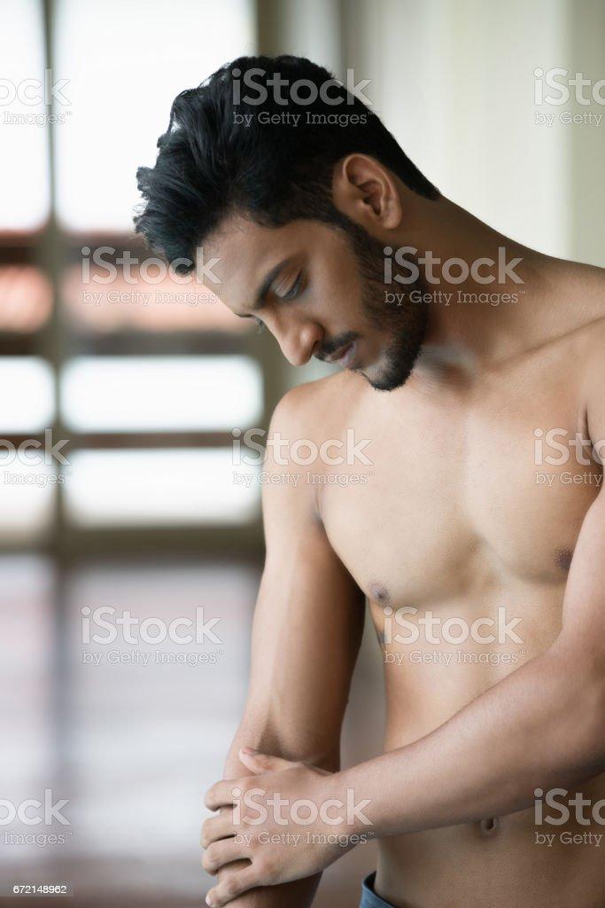 Sensual man stock photo