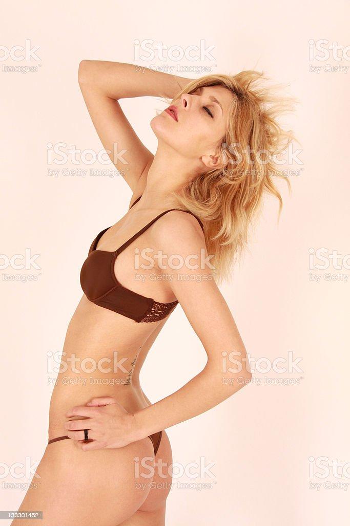 Sensual Model in lingerie stock photo