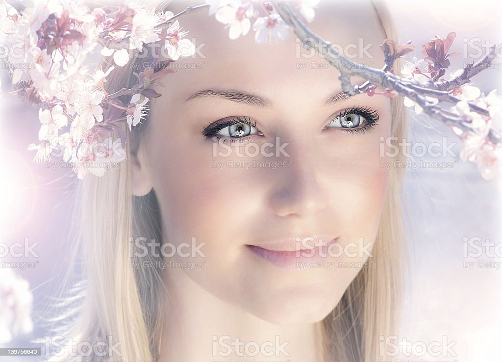 Sensual portrait of a spring woman royalty-free stock photo