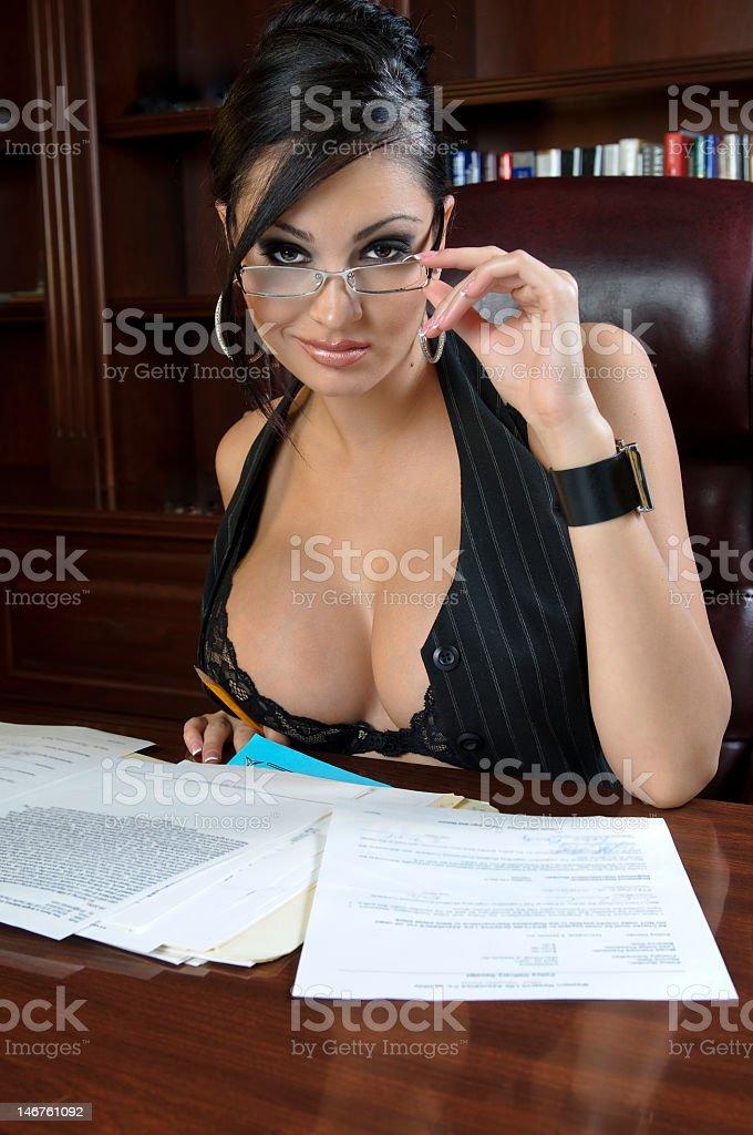 Sensual Secretary stock photo