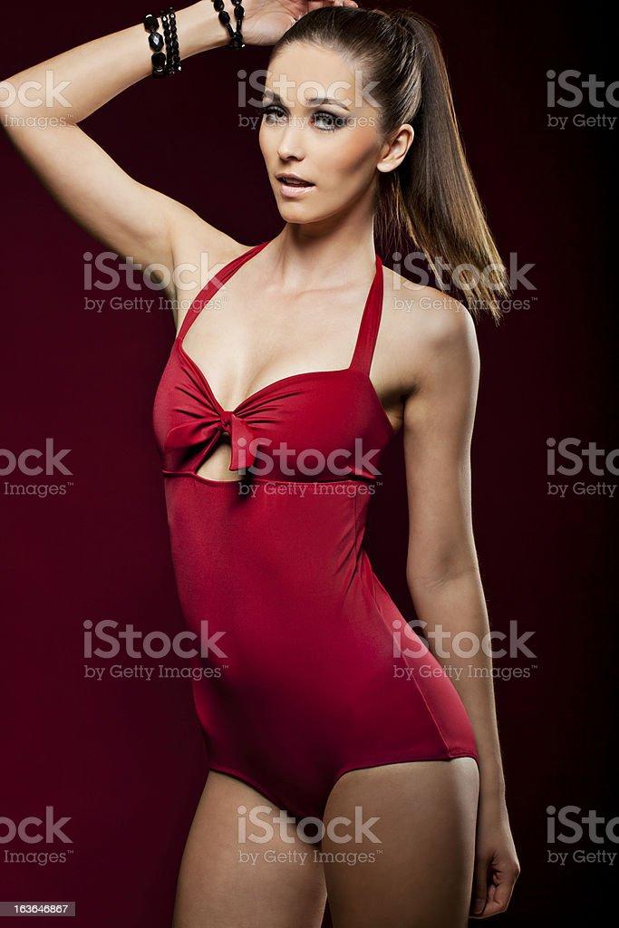 Sensual woman in a bikini royalty-free stock photo