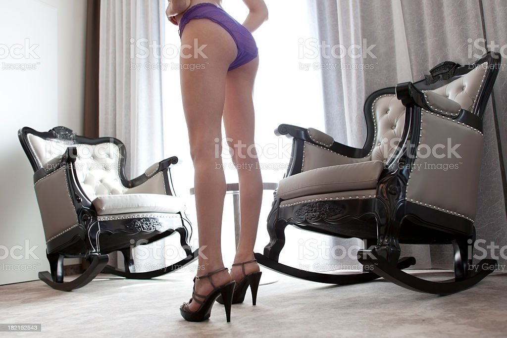 Sensual woman in lingerie royalty-free stock photo