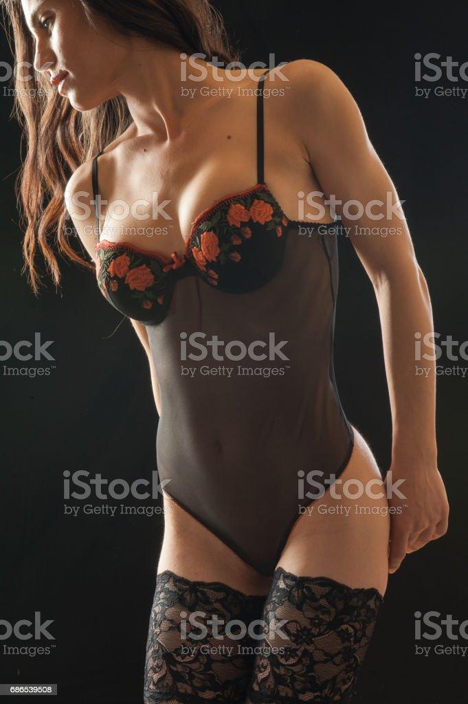 Sensual woman in lingerie foto stock royalty-free