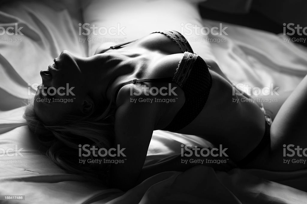 Sensual women body shape silhouette stock photo