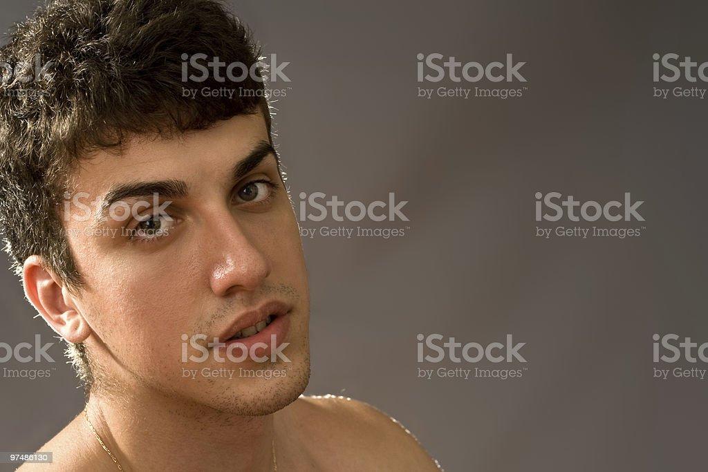 Sensual young man royalty-free stock photo