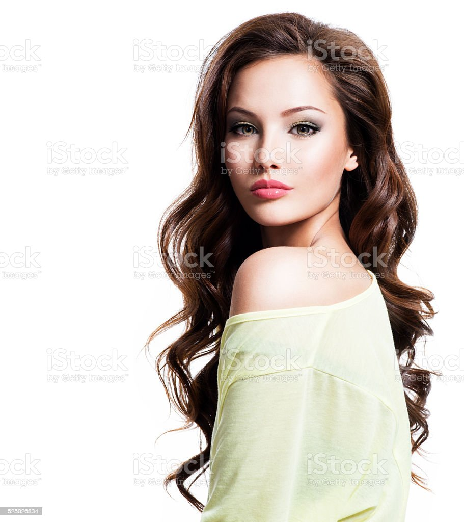 Sensuality beautiful woman with long hair royalty-free stock photo