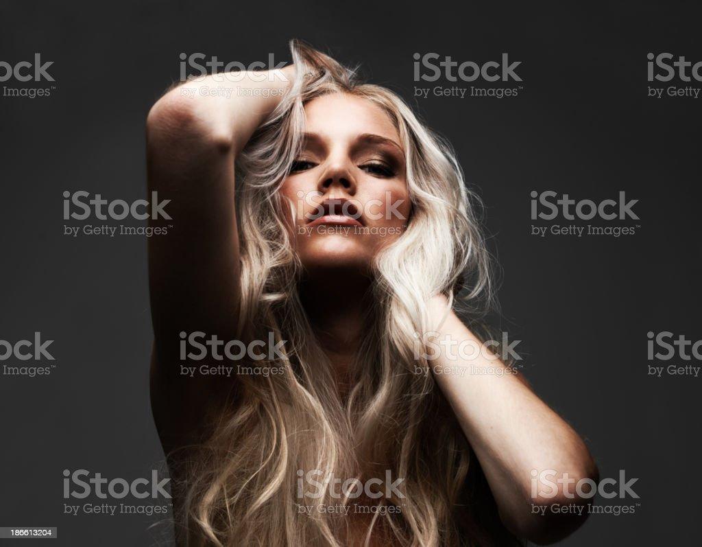 Sensually seductive stock photo