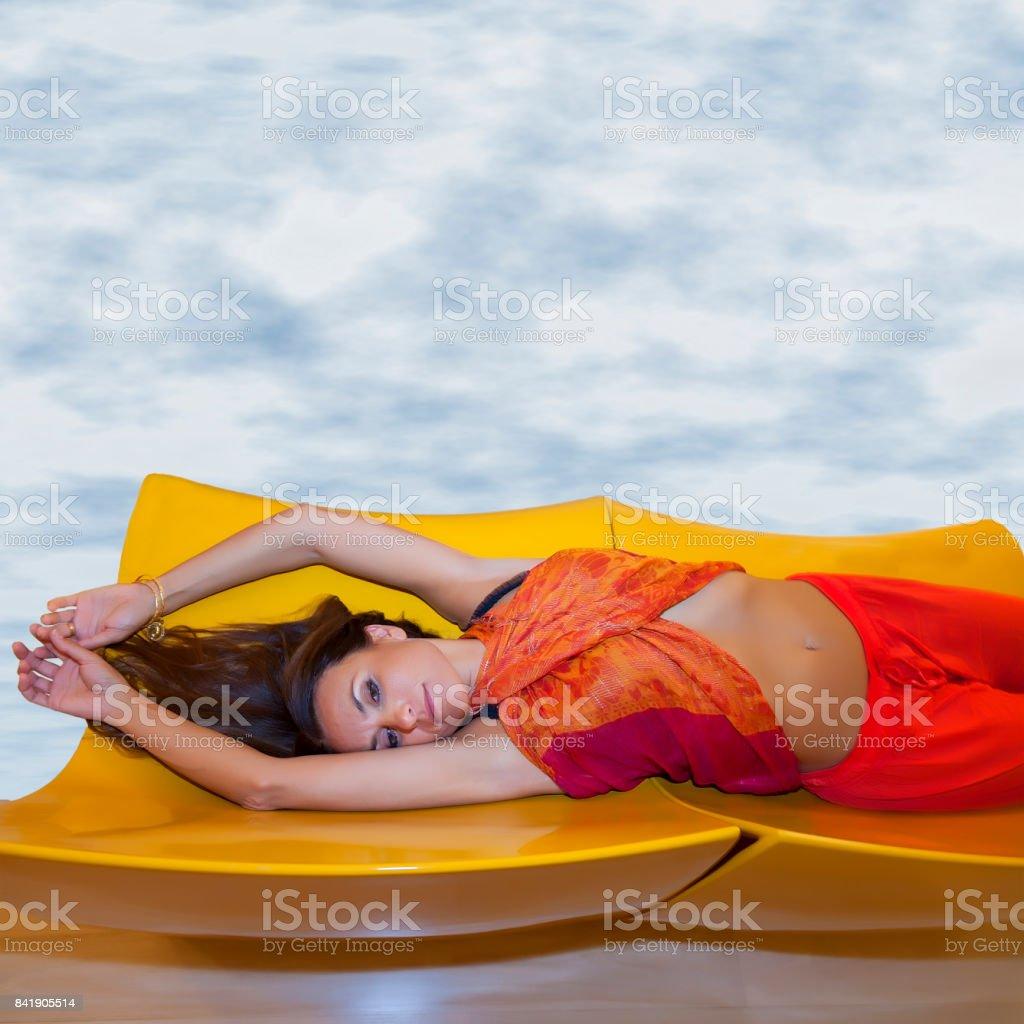 Sensuous Brunette model stock photo