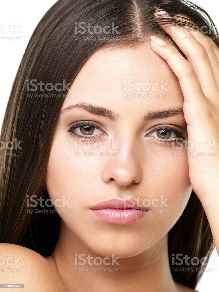 Sensuous young woman stock photo
