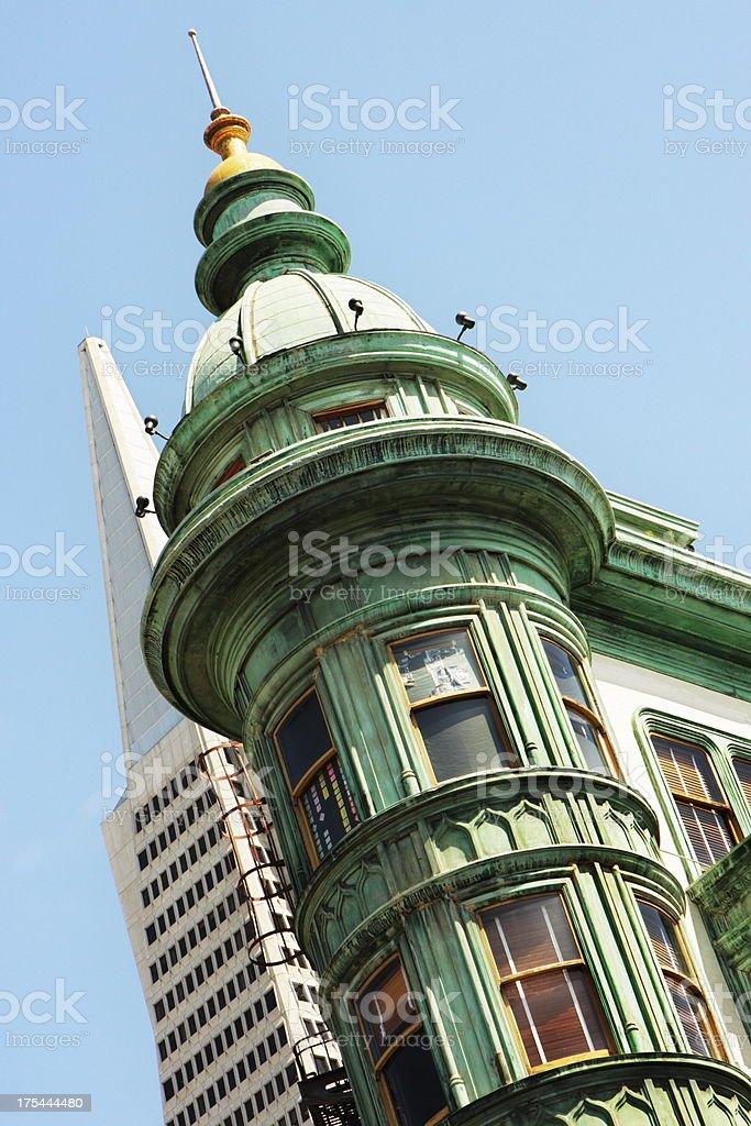 Sentinel Building Columbus Tower San Francisco royalty-free stock photo