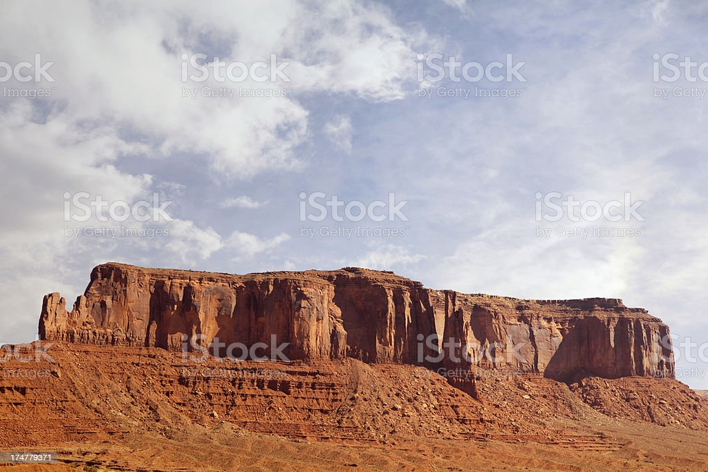 Sentinel Mesa - Monument Valley royalty-free stock photo