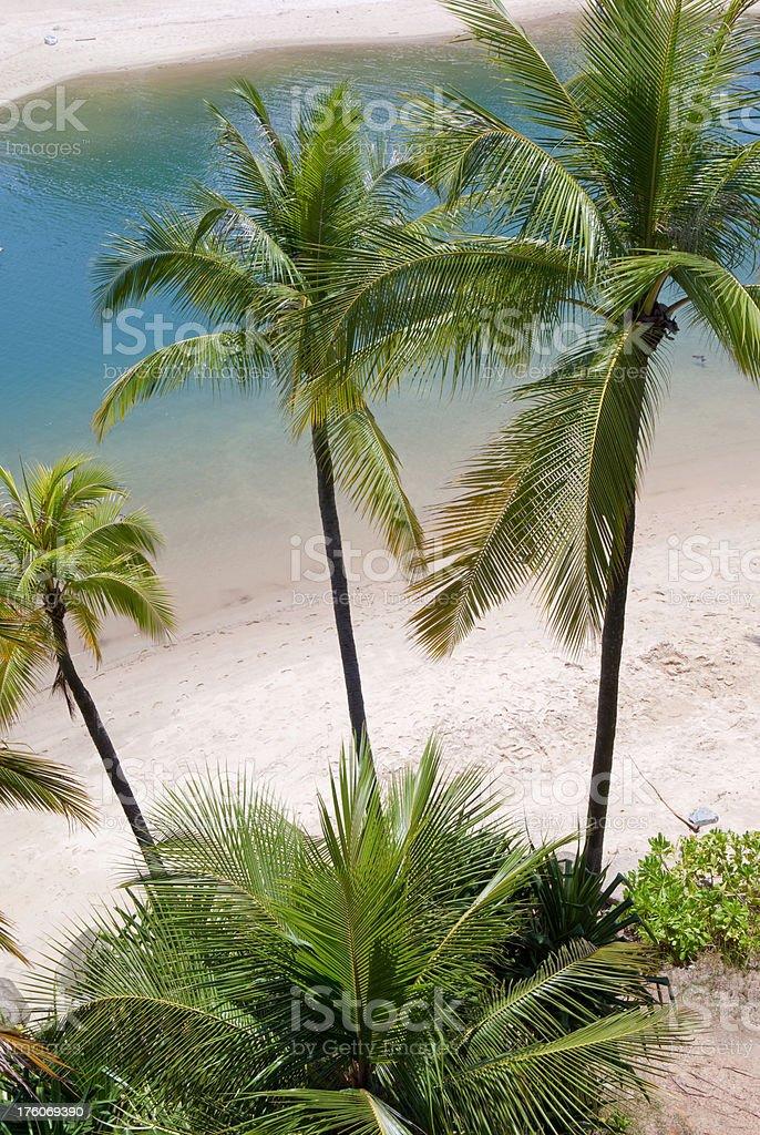 Sentosa beach stock photo