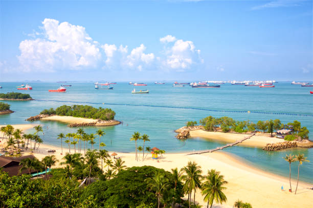 Sentosa Island in Singapore stock photo