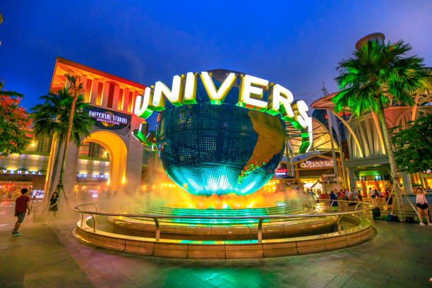 sentosa universal studios - orlando florida photos stock photos and pictures