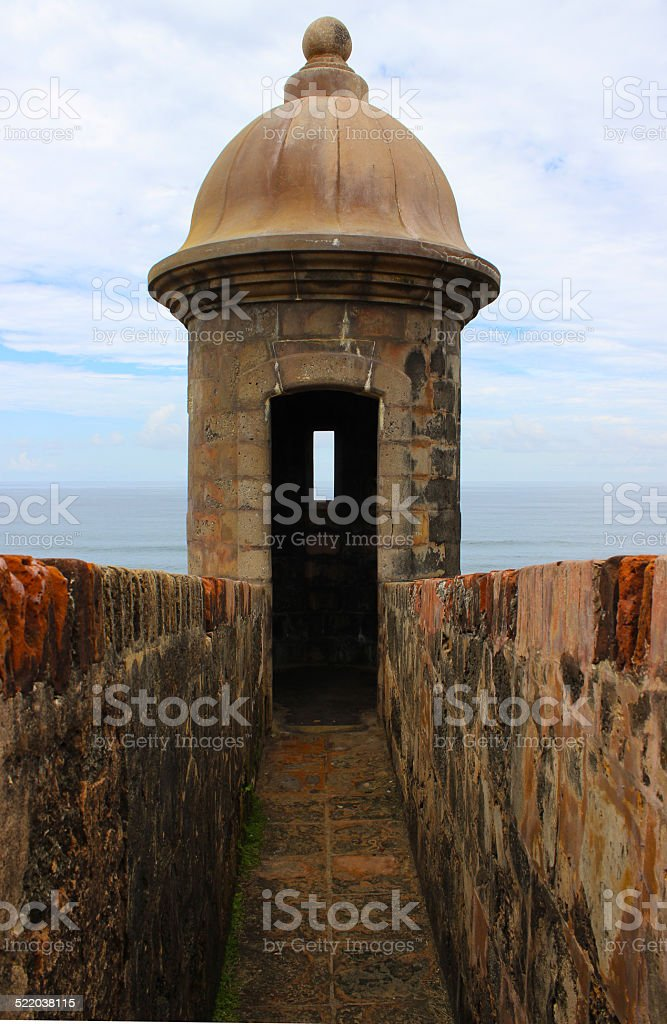 Sentry Box of a Stone Fort stock photo