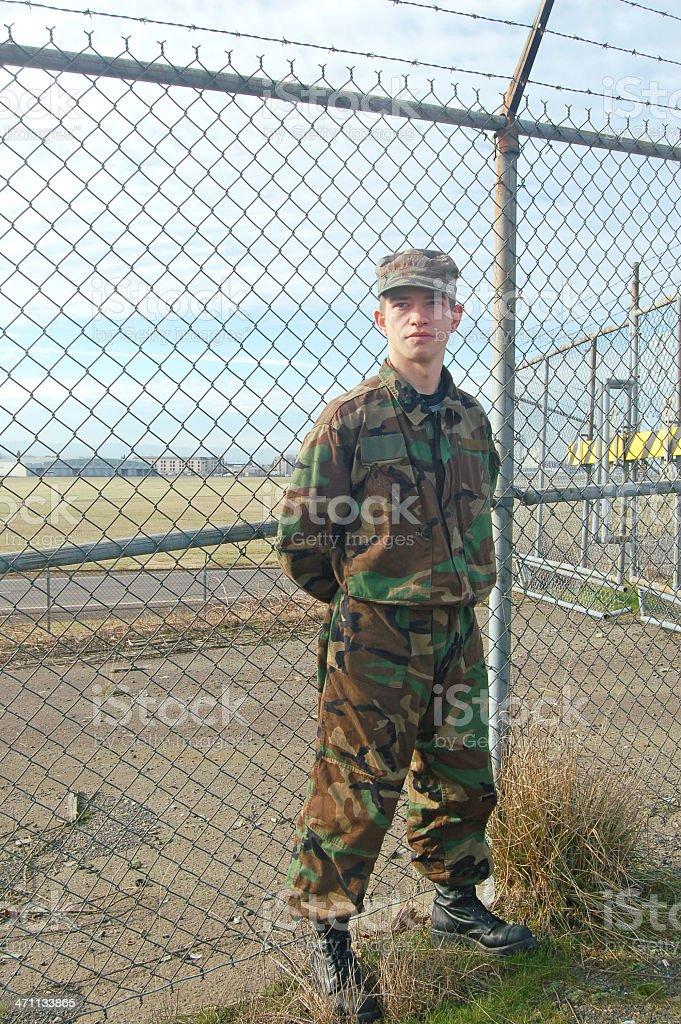 Sentry stock photo