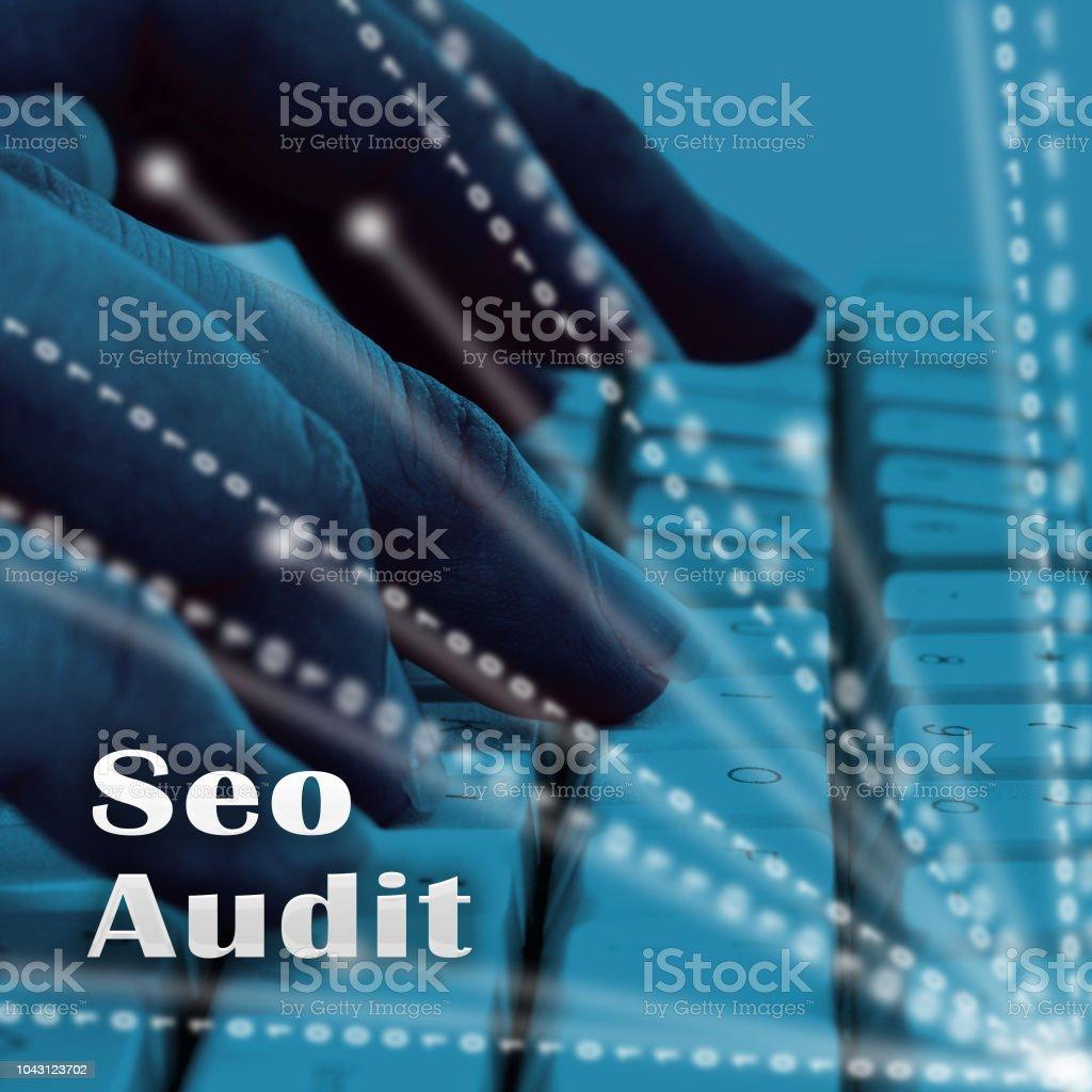 Auditoría de SEO sitio Web Ranking evaluación ilustración 3d - foto de stock