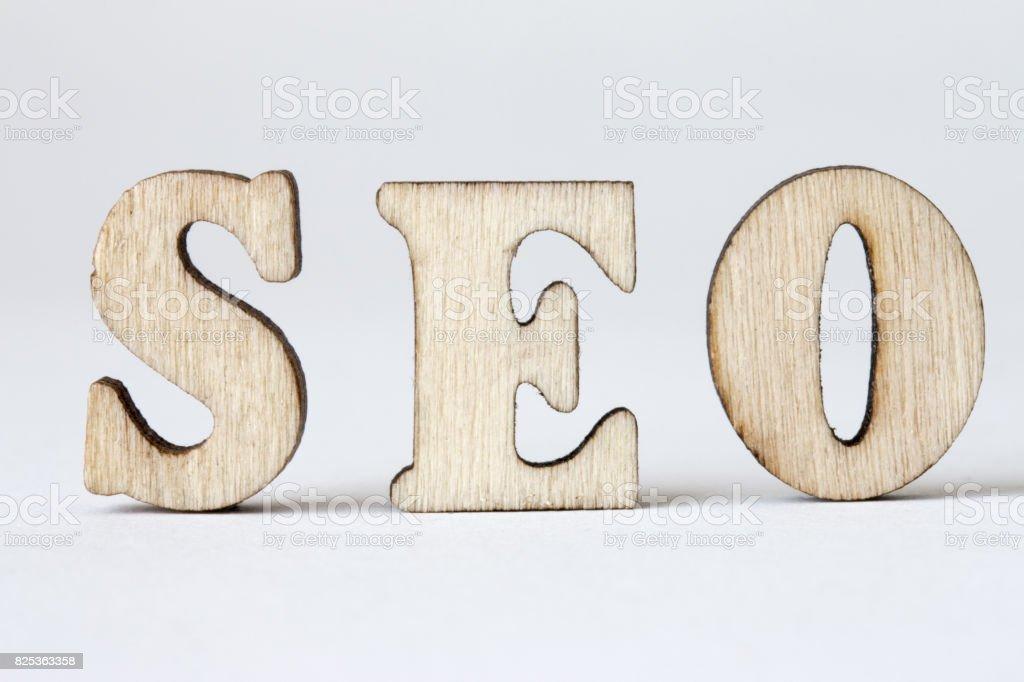 seo, Wood letters SEO on White background stock photo