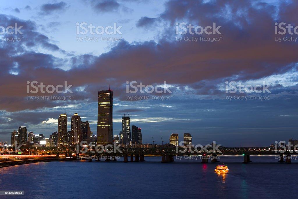 Seoul at sunset royalty-free stock photo