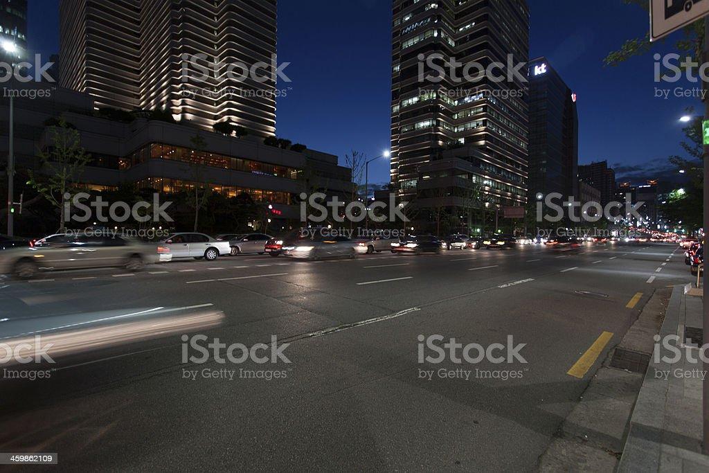 Seoul bei Nacht stock photo