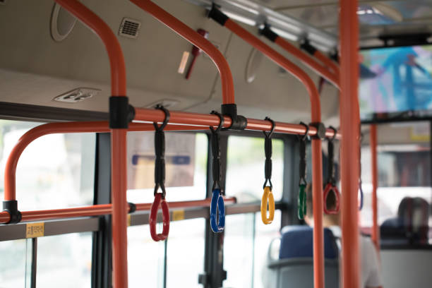 seoul bus handle - hand grip stock photos and pictures
