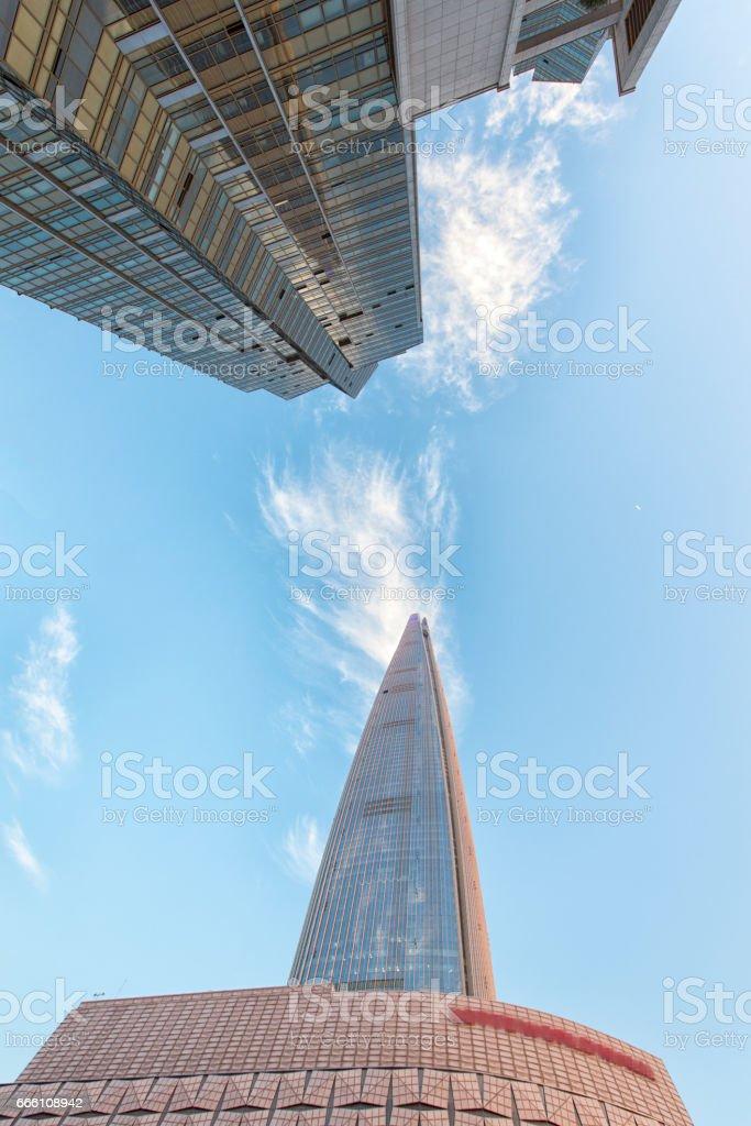 seoul cityscape stock photo