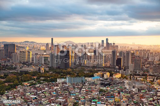 istock Seoul cityscape seen from above - South Korea 983354534