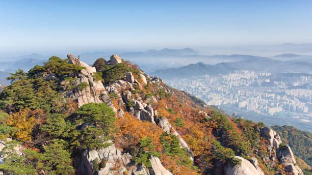 Seoul in Autumn stock photo