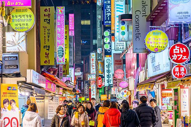 ソウルのナイトライフ - 韓国 ストックフォトと画像