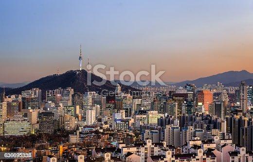 istock Seoul Skyline Panorama 636695338