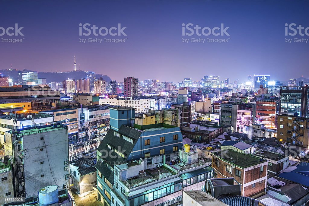 Seoul Skyline royalty-free stock photo