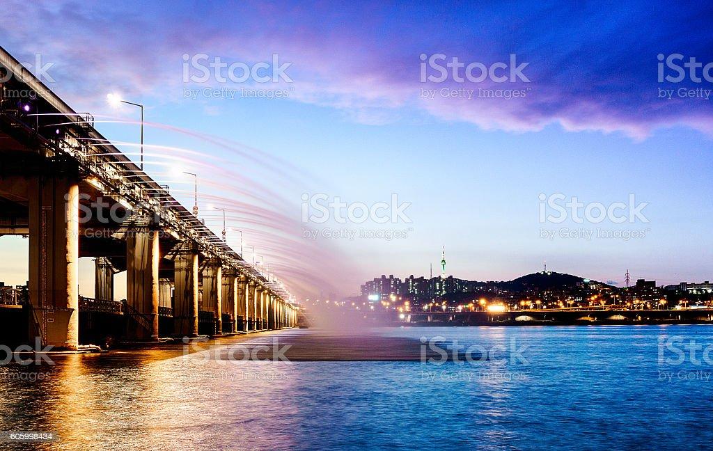 Seoul Skyline, South Korea stock photo