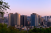 The skyline of Seoul, Korea from Namsan Mountain